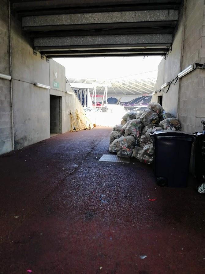 Next morning at the Liberty Stadium