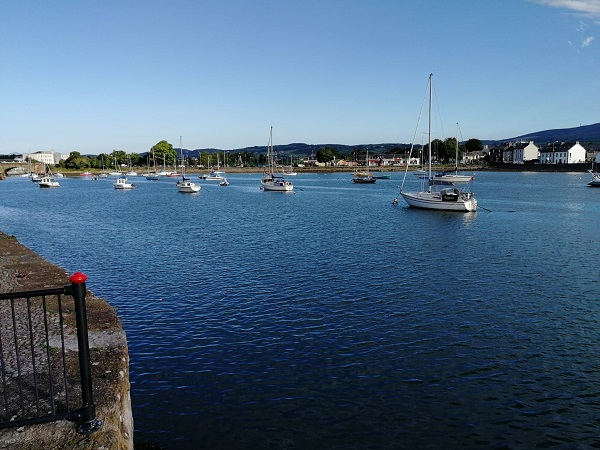 Dungarven harbour in morning sun